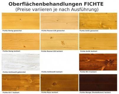 Esszimmer Einrichtung Essgruppe Sideboard Vitrine Birke massiv lackiert braun - Vorschau 4