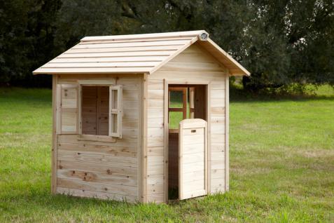 Spielhaus Spielhütte Holzspielhaus für Kinder TÜV geprüft Zedernholz stabil - Vorschau 4