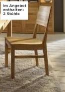 Stuhl Sitz Sitzgelegenheit Kernbuche massiv Holzsitz 2 Stück geölt
