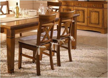 Stuhl Esszimmerstuhl Holzstuhl 2er Set mit Holzsitz Kiefer massiv - Vorschau 1