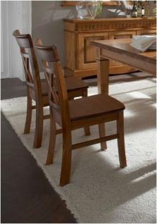 Stuhl Esszimmerstuhl Holzstuhl 2er Set mit Holzsitz Kiefer massiv - Vorschau 2