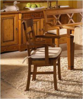 Armlehnstuhl Esszimmerstuhl Holzstuhl Sessel 2er Set mit Holzsitz Kiefer massiv - Vorschau 2