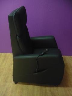 fernsehsessel relaxsessel sessel amon elektrisch mit aufstehhilfe leder schwarz kaufen bei. Black Bedroom Furniture Sets. Home Design Ideas