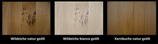 Highboard Vitrine Kernbuche Wildeiche massiv geölt Bianco - Vorschau 3