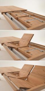 Esstisch Tisch Esstischsystem Kernbuche geölt massiv Sondermaße ausziehbar - Vorschau 2