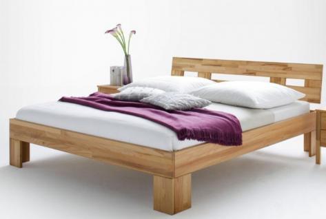 Bett Einzelbett Doppelbett Jugendbett Holzbett Gästebett Kernbuche massiv geölt - Vorschau