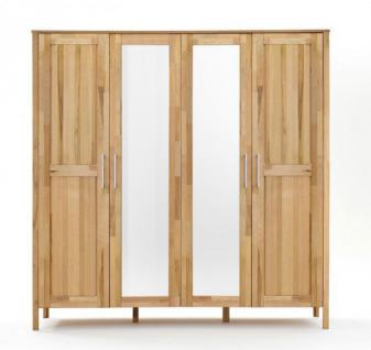 schrank kleiderschrank holzschrank schubladen spiegel kernbuche massiv kaufen bei saku system. Black Bedroom Furniture Sets. Home Design Ideas