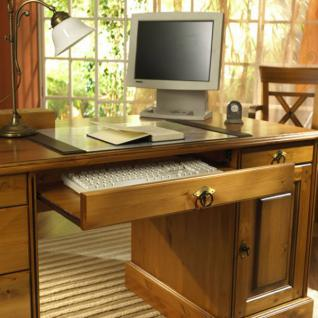 Schreibtisch Bürotisch Arbeitstisch Computertisch Büro Kiefer massiv patiniert - Vorschau 2