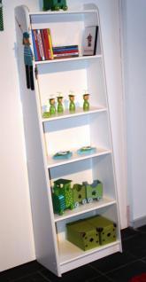 Bücherregal Regal schräg Raumteiler Kinderzimer Kiefer massiv weiß lasiert - Vorschau