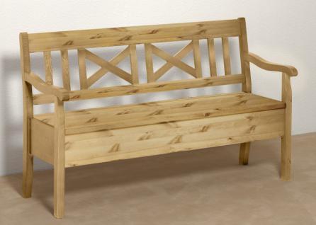 bank k chenbank truhenbank mit lehne kiefer massiv gelaugt. Black Bedroom Furniture Sets. Home Design Ideas