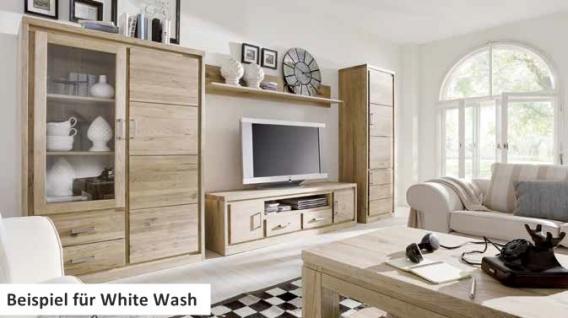Hochschrank Schrank Esszimmer Wildeiche massiv geölt white wash - Vorschau 2