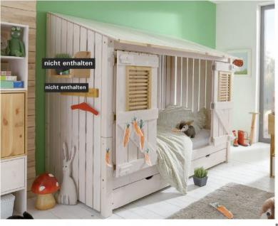 jugendbett kinderbett kojenbett bett kiefer massiv weiss. Black Bedroom Furniture Sets. Home Design Ideas
