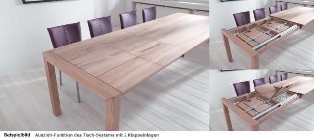 Tisch Esstisch Konferenztisch Tisch-System Ausziehplatte Kernbuche massiv - Vorschau 3