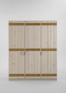 Kleiderschrank Schrank Wäscheschrank 3-türig Kiefer massiv Kinderzimmer - Vorschau 3