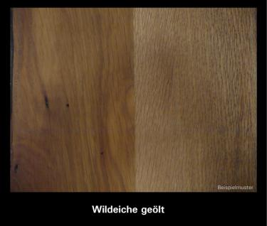 Couchtisch Beistelltisch Wohnzimmermöbel Alu Nussbaum massiv geölt - Vorschau 4