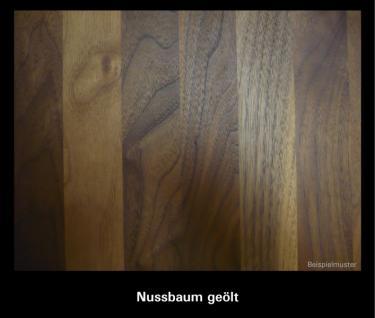 Couchtisch Beistelltisch Wohnzimmermöbel Alu Nussbaum massiv geölt - Vorschau 5