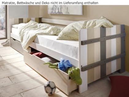 Einzelbett Kinderbett Jugendbett Schubladenbett Kinderzimmer Kiefer massiv