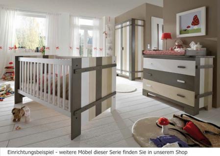 Kinderzimmer Babyzimmer Kleiderschrank 2-türig Kommode Babybett Kiefer massiv - Vorschau 1
