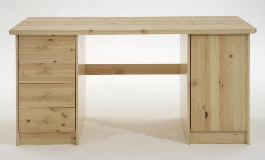 Schreibtisch Kinder-Schreibtisch Kiefer massiv Jugendzimmer Schubladen - Vorschau 1
