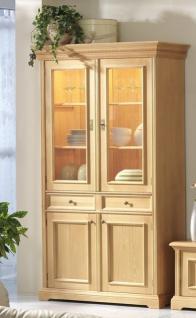vitrinenschrank vitrine schrankvitrine fichte massiv honig. Black Bedroom Furniture Sets. Home Design Ideas