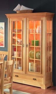 vitrine vitrinenschrank sprossenvitrine fichte massiv. Black Bedroom Furniture Sets. Home Design Ideas