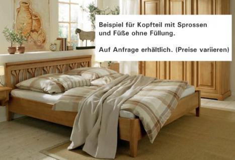 Bett Doppelbett Ehebett Holzbett Fichte massiv antik gewachst 180x200 vintage - Vorschau 3