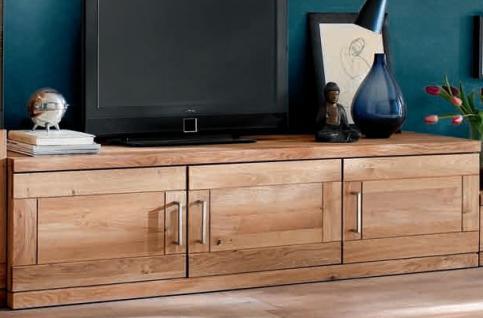 tv board tv anrichte tv tisch lowboard hifi tv m bel wildeiche massiv ge lt kaufen bei saku. Black Bedroom Furniture Sets. Home Design Ideas