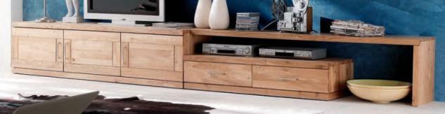 TV-Board TV-Anrichte TV-Tisch Lowboard Winkelboard TV-Möbel Wildeiche massiv