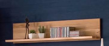 Wandboard Wandregal Hängeregal Steckboard Wohnzimmer Kernbuche massiv geölt - Vorschau 1