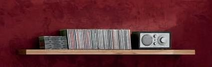 Regal Wandregal Bücherregal Steckboard Wandboard Kernbuche massiv geölt - Vorschau 1