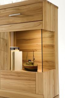 highboard sideboard vitrine vitrinenschrank wohnzimmer kernbuche massiv kaufen bei saku system. Black Bedroom Furniture Sets. Home Design Ideas