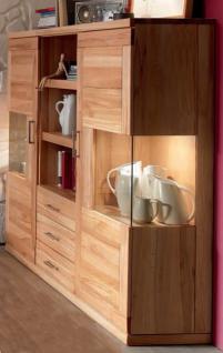 Highboard sideboard vitrine wohnzimmerschrank kernbuche for Wohnzimmerschrank kernbuche