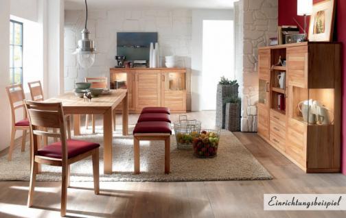 Highboard Sideboard Schrank Vitrine Wohnzimmer Esszimmer Kernbuche massiv - Vorschau 2