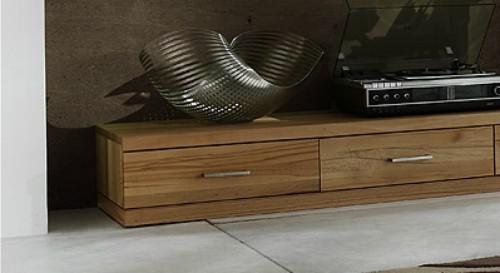Lowboard TV-Board TV-Lowboard TV-Möbel Wohnzimmer Kernbuche massiv geölt