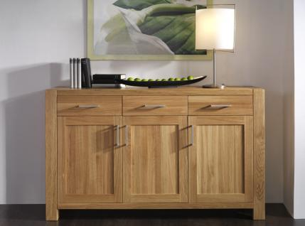 sideboard anrichte wohnzimmer kommode eiche massiv ge lt satin wei kaufen bei saku system. Black Bedroom Furniture Sets. Home Design Ideas