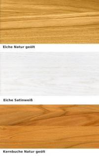 Wohnzimmer Esszimmer Wohnraum Kompletteinrichtung Eiche massiv geölt satin weiß - Vorschau 4