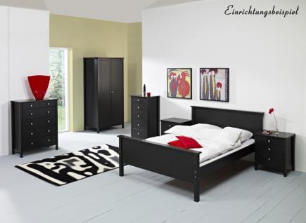 Nachtkommode Nako Bettkommode Nachtkästchen Nachtkonsole Bettkasten schwarz MDF - Vorschau 5