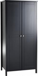 Schrank Kleiderschrank 2trg Schlafzimmer Jugendzimmer schwarzbraun lackiert MDF