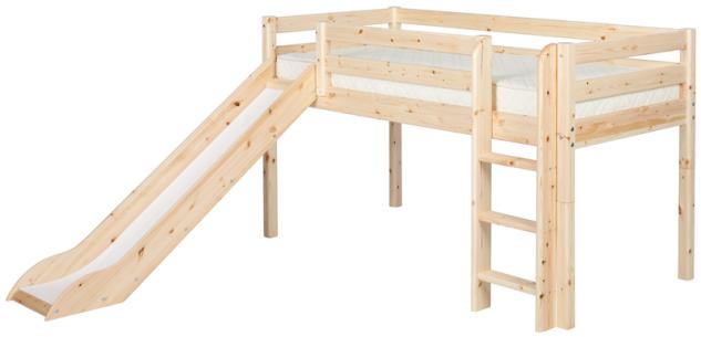 Flexa Classic halbhohes Bett Hochbett Kinderbett Rutsche Jugendbett Kiefer