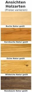 Essgruppe Essbankgruppe Esszimmer Tisch Bank Nussbaum massiv geölt natur - Vorschau 5