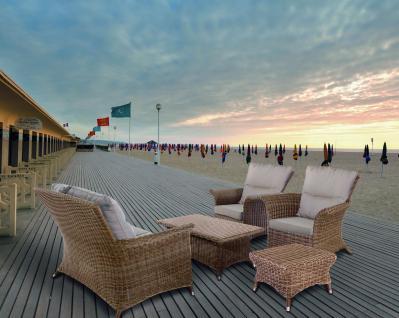Loungemöbel Lounge-Set Loungegruppe Lounge Garten Terrasse Geflecht natur - Vorschau 1