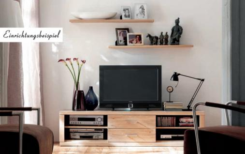 TV-Board Lowboard TV-Anrichte TV-Möbel TV-Konsole Wildeiche massiv geölt - Vorschau 2