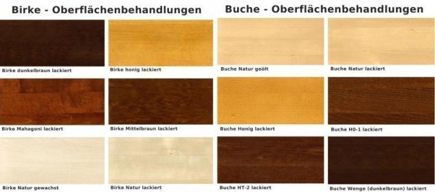 Bank Sitzbank Beistellbank Küchenbank Tischgruppe Birke massiv gewachst - Vorschau 3