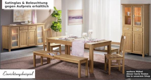 Sideboard Anrichte Vitrine Esszimmer Wohnzimmerschrank Eiche massiv geölt - Vorschau 2