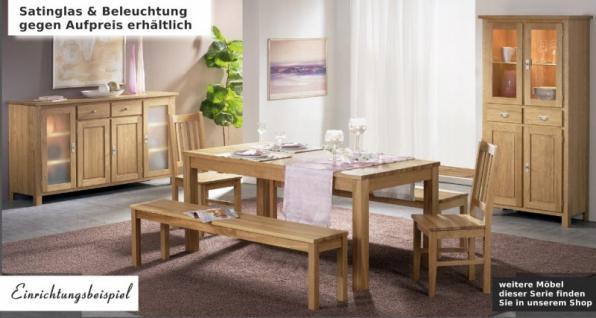 vitrine vitrinenschrank schrank wohnraum esszimmer eiche. Black Bedroom Furniture Sets. Home Design Ideas