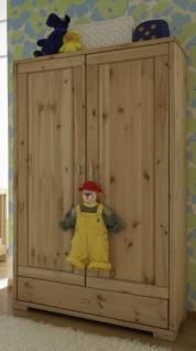 Kleiderschrank Schrank Kinderzimmerschrank Kiefer massiv - Vorschau 2