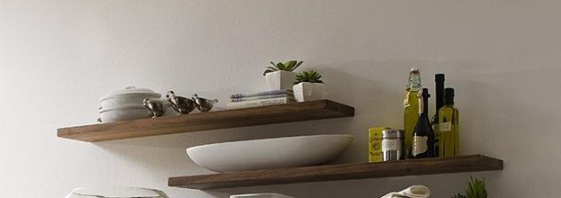 Steckboard Wandregal Wandboard Regal Wandelement Nussbaum massiv geölt - Vorschau 1
