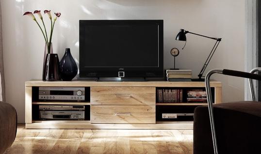 TV-Board Lowboard TV-Anrichte TV-Möbel TV-Konsole Wildeiche massiv geölt - Vorschau 1
