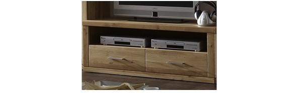 TV-Board TV-Anrichte Lowboard TV-Konsole Wildeiche massiv geölt terra