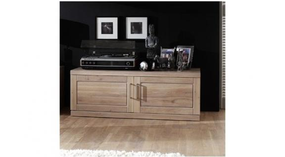 tv board tv anrichte tv konsole lowboard wildeiche wei patiniert kaufen bei saku system. Black Bedroom Furniture Sets. Home Design Ideas